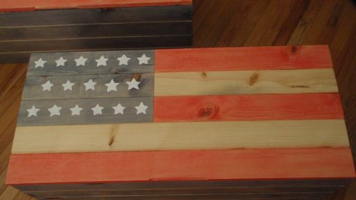 Custom Made Old Glory.  American Flag Blanket Chest.