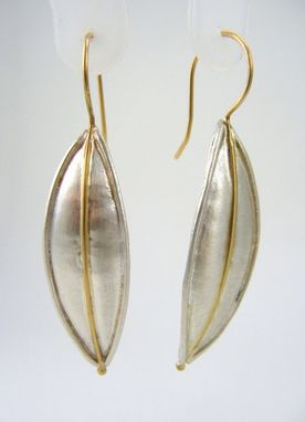 Custom Made Sterling Silver 18k Gold Leaf Earrings