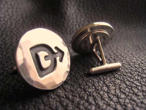 Custom Made Ranch Brand Cattle Brand Cufflinks In Solid Bronze
