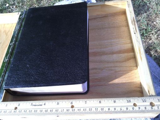 Custom Made Wooden Bible Box In Spalted And Wormy Maple