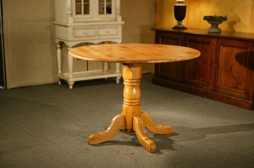 Custom Made Kitchen Table With Oak Empire Pedestal