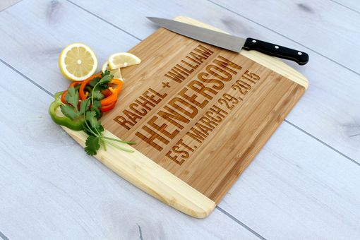 Custom Made Personalized Cutting Board, Engraved Cutting Board, Custom Wedding Gift – Cb-Bam-Henderson