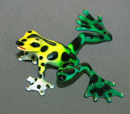 Custom Made Real Frog Color Bronze Frog Sculpture Metal Art Figurine Statue Limited Edition Signed Numbered