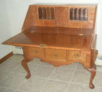 Custom Made Cherry Slant Top Desk