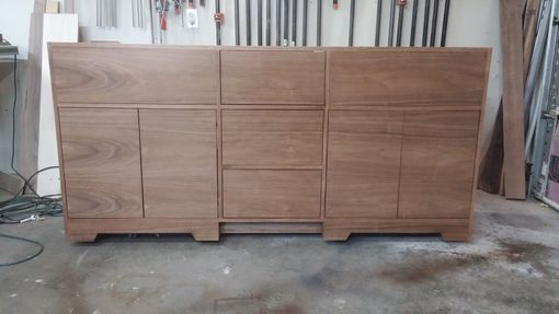 Custom Made Modern Walnut Vanity