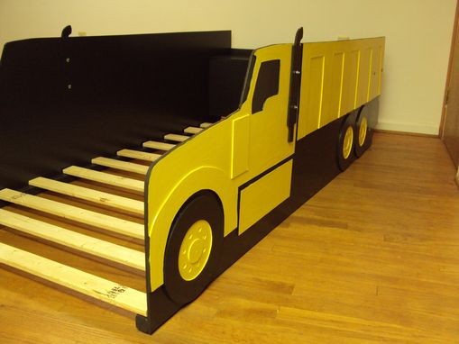Dump Truck Toddler Bed : Buy a hand crafted dump truck twin kids bed frame