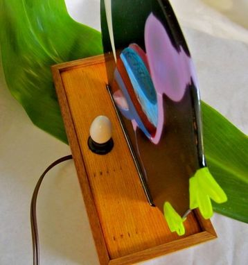 Custom Made Fused Glass Accent Light - Le Hibou (The Owl)