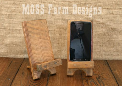 Designs Stand Out : Buy a hand made adjustable reclaimed wood rustic phone