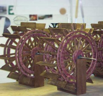 Custom Made Riverboat Wheels