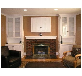 Custom Made Fireplace And Tv Cabinetry