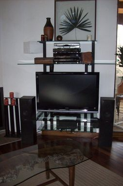 Custom Made Glass And Steel Wall Unit