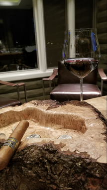 Custom Made Cigar Ashtray Made From Wood Or Burl Of Your Choice