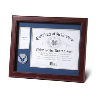 Custom Made Aim High Air Force Medallion Certificate And Medal Frame