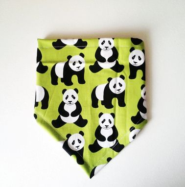 Custom Made Panda Print Bandana Bib For Baby