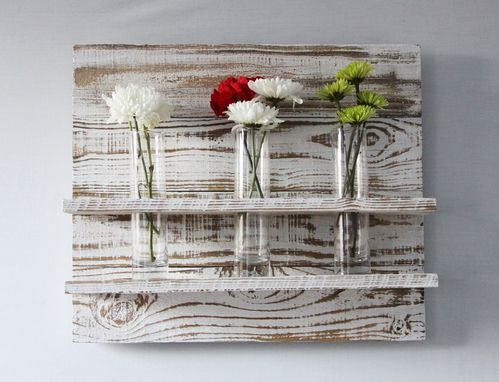Custom Made Wood Flower Vase Panel