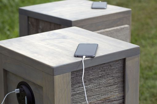 Custom Made Barn Wood Nightstand With Phone Charger