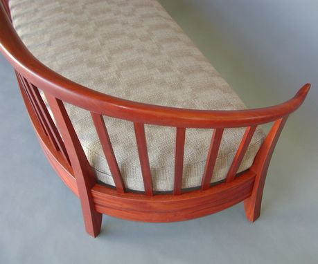 Custom Made Mahogany Arts And Crafts Settee