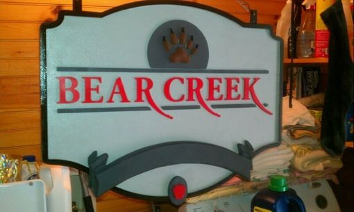 Custom Made Dimensional Signs - Bear Creek Lodge