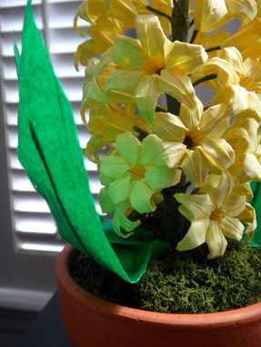 Custom Made Yellow Origami Hyacinths