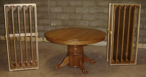 "Custom Made New Solid Oak Wood Round Large Dining Room | Kitchen 10 Leaf ""Last Supper"" Table"