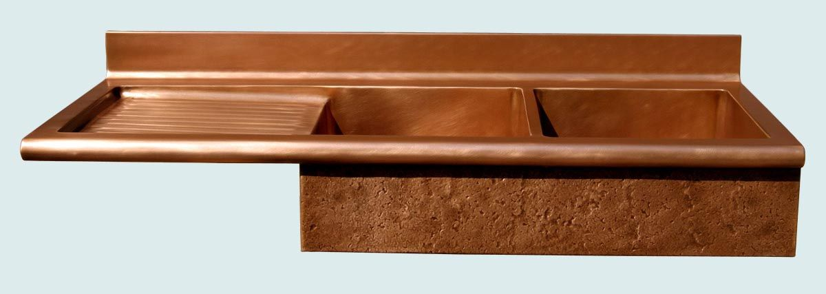 Handmade Copper Sink With Drainboard Amp Splash By Handcrafted Metal Custommade Com
