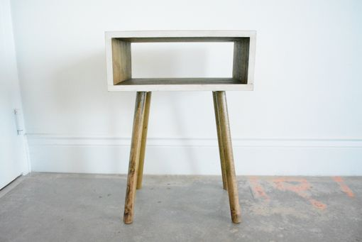 Custom Made Mid Century Modern Inspired End Table