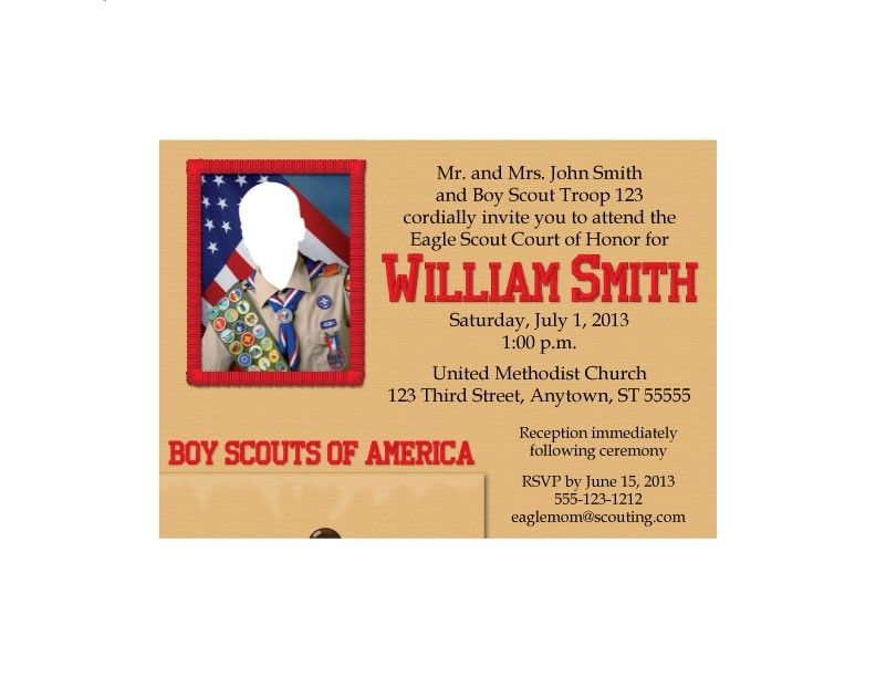 Hand Crafted Eagle Scout Court Of Honor Invitation