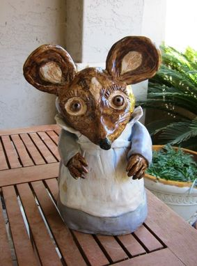 Custom Made Sculpted Ceramic Animals - Mouse