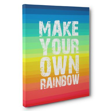 Custom Made Make Your Own Rainbow Canvas Wall Art