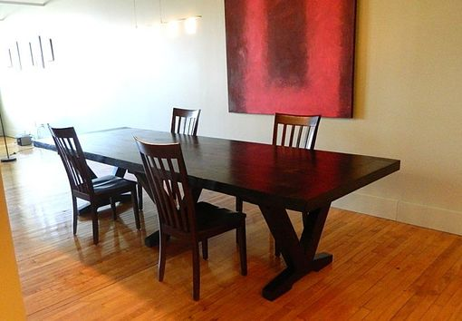 Custom Made Modern Barn Wood Dining Table