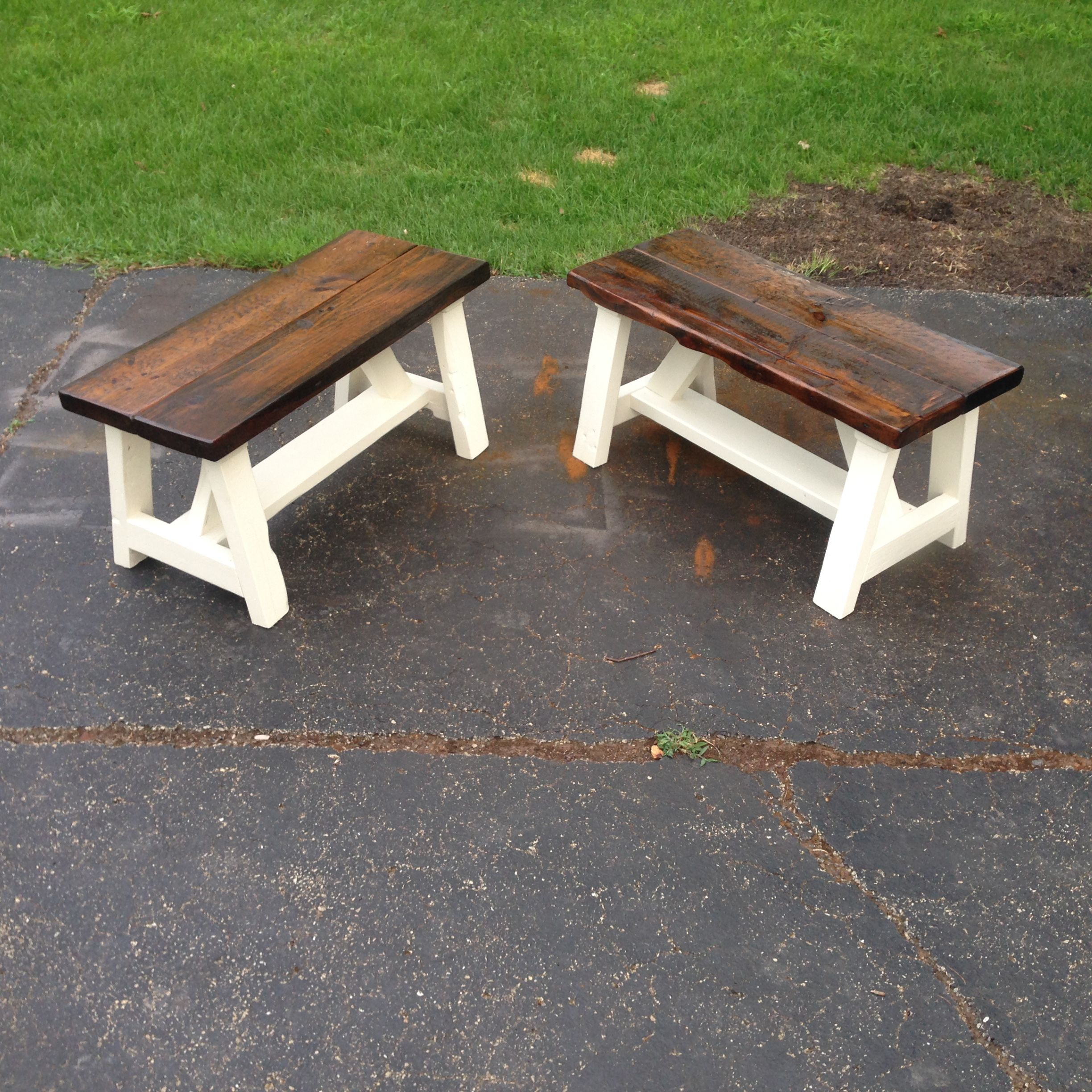 A Custom Farm Style Bench Made To