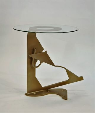 Custom Made Steel And Glass Table