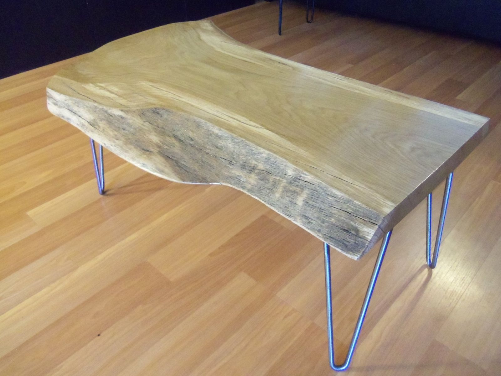 Custom live edge white oak coffee table by ozma design custom made live edge white oak coffee table geotapseo Choice Image