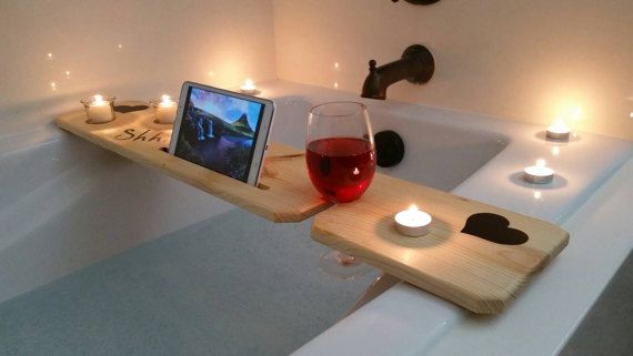 Buy a Hand Crafted Bath Tub Tray - Vinyl, made to order from Sliver ...