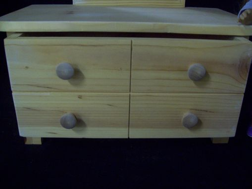 "Custom Made 18"" Doll Dresser With Mirror"