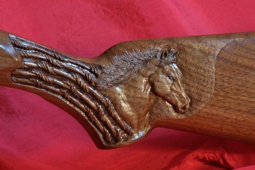 Custom Made Gunstock Carving