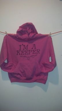 Custom Made Sale Harry Potter Inspired I'M A Keeper And Golden Snitch Hoodie, Kid's Medium (10-12)