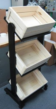 Custom Made Tiered Crate Display- Qty 1