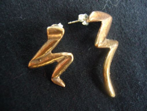 Custom Made Zip Stud Earrings