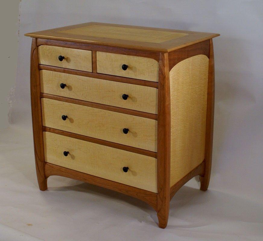 Handmade Cherry Maple Dresser by Stick And Stone Studio ...