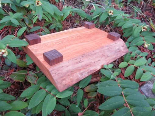 Custom Made Live Edge Cherry Cutting/Serving Board, With Feet