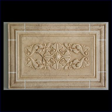 Custom Made Custom Relief Carved Natural Stone Panels