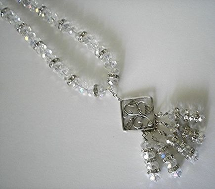 Custom Made Crystal Necklace With Beaded Drop