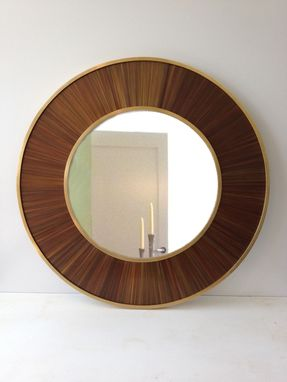 Custom Made Copper Straw Marquetry Mirror