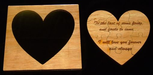 Custom Made Wooden Heart Puzzle And Outline