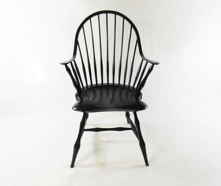 Custom Made Continous Arm Windsor Chair With Bamboo Turnings