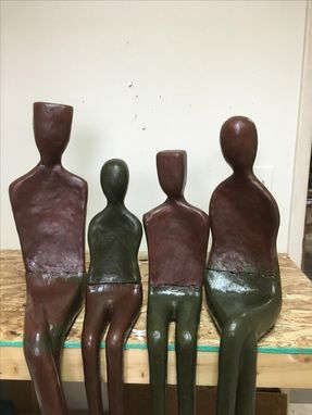 Custom Made Half Live Size Sculptures For Outdoor And Public Installations
