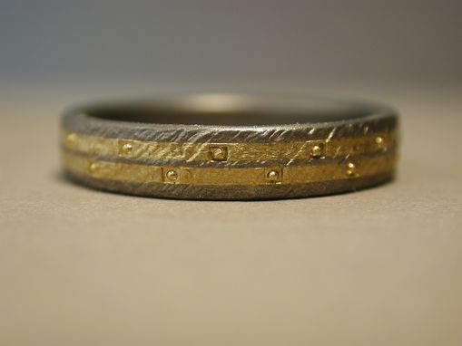 Custom Made Titanium And Pure Gold Man's Wedding Ring