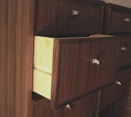 Custom Made Walnut Storage Cabinets