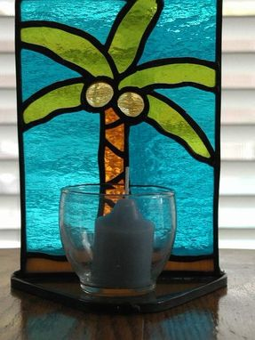 Custom Made Stained Glass Candle Stand